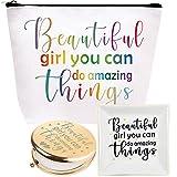Beautiful Girl You Can Do Amazing Things, Inspirational Gifts for Women, Amazing Gifts for Teen Girls, Beautiful Gift Makeup Bag, Inspirational Jewelry Dish, Amazing Mirror, Amazing Things for Girls