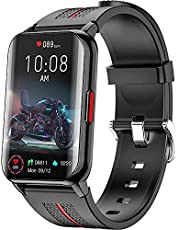 Smart Watch for Android iOS Phones Compatible 1.57 inch Full Touch Screen Fitness Tracker with Heart Rate & Blood Oxygen Monitoring IP68 Waterproof Smart Watches for Men Women