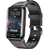 Smart Watch for Android iOS Phones Compatible 1.57 inch Full Touch Screen Fitness Tracker with Heart Rate & Blood Oxygen Monitoring IP68 Waterproof Smart Watches for Men Women (Black)