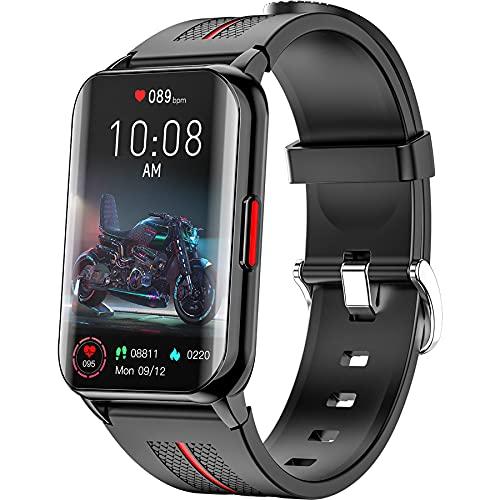 Smart Watch per uomo donna, tracker fitness full touch da 1,57 pollici con monitoraggio della frequenza cardiaca dell ossigeno nel sangue, smartwatch impermeabile IP68 per telefoni Android IOS