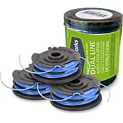 Greenworks .065-Inch Dual Line String Trimmer Replacement Spool 3-Pack 29242