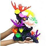 erddcbb Artificial Coral Acuario pecera decoración Ornamento simulación Silicona Plantas Flor plástico Suave anémona de mar Paisaje decoración