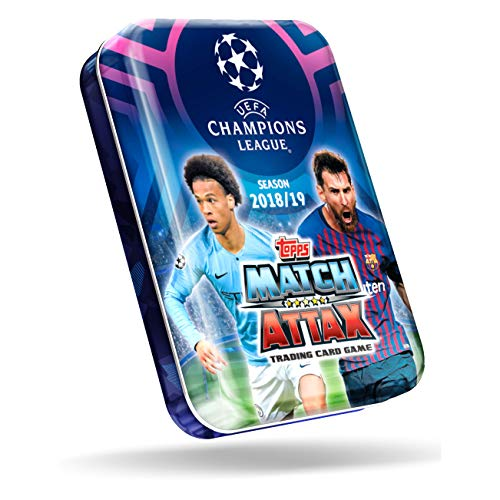 Topps- Match Attax-Trading Card Game UEFA Cartas Coleccionables Champions League 2018/19, Color Azul (CL19-MT4020.T01)