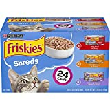Purina Friskies Gravy Wet Cat Food Variety Pack, Shreds Beef, Chicken and Turkey & Cheese Dinner -...