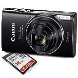 Canon PowerShot ELPH 360 HS (Black) Digital Camera w/16 GB SD Card