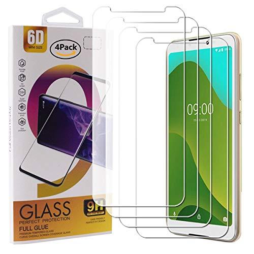 Guran 4 Paquete Cristal Templado Protector de Pantalla para Wiko Jerry 4 Smartphone 9H Dureza Anti-Arañazos Alta Definicion Transparente Película