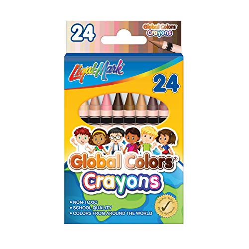 24 Pack Global Colors Crayons Assorted Colors