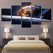 hllhpc (Sin marco Astronauta Tierra Júpiter Venus Sol Luna Universo Cuadros de pared para sala de estar Pintura a color Arte Decoración para el hogar Resumen 9 (40x60 40x80 40x100)