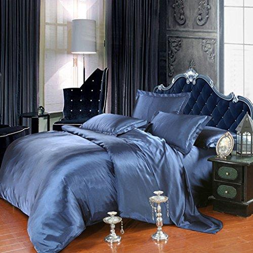 Set de draps de lit, double ressort et été Mulberry Silk Ensemble de lit en couleur solide de 4 pièces - 1.5M / 1.8M / 2.0M Bed ( Couleur : B , taille : 2.0m/6.6Feet bed )