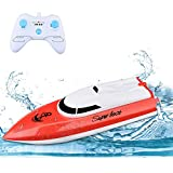 Remote Control Boats for Pools and Lakes, TOYEN RC Boat 2.4GHz 14km/h Mini Remote Boat Toys Indoor/Outdoor for Kids Boys Girls
