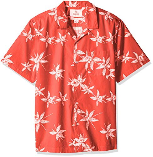 28 Palms Relaxed-Fit 100% Cotton Tropical Hawaiian Shirt But