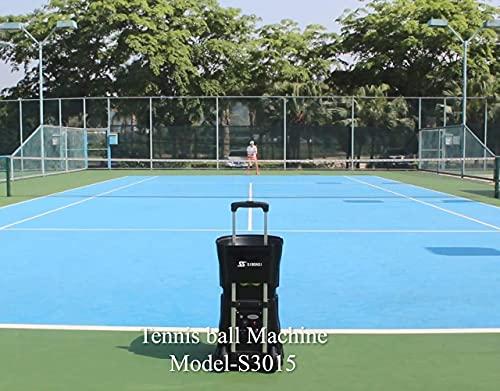 SKYEGLE Tennisball-Maschine, tragbar, automatisch, Ballwerfer, Tennis-Übungsgerät, mittelgroßer Tennis-Trainer mit Lithium-Batterie und Fernbedienung, Sport S3015