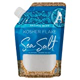 SaltWorks Pacific Blue Kosher Flake Sea Salt, Artisan Pour Spout Pouch, 8 Ounce