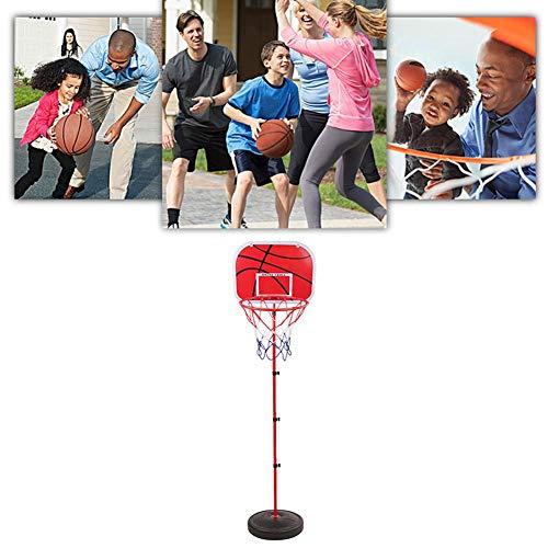 auspilybiber Einstellbare Basketballständer, Basketballkorb mit Ständer Höhenverstellbar Basketball-Backboard Ständer Hoop Set für Kinder und Jugendliche Geeignet