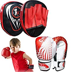 Kids boxing gloves series is designed specifically for the young fighter to show their aggression in the boxing training sessions Made from high quality durable synthetic-S leather which is long lasting and smooth in feel Suitable for children from a...