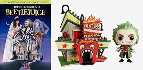 Oh Yea... Dante's Inferno: Beetlejuice DVD/ FUNKO BEETLEJUICE POP! TOWN BEETLEJUICE WITH DANTE'S INFERNO ROOM VINYL FIGURES HOT TOPIC EXCLUSIVE Bundle
