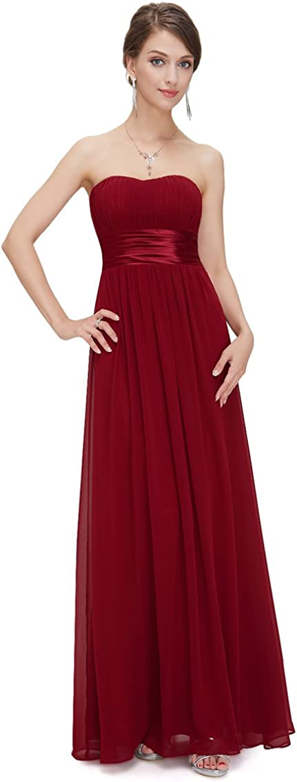Ever-Pretty Women's Weekly update Strapless All items free shipping Ruched Bust Even Sexy Long Chiffon