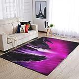 Tobgreatey Area Rugs Alfombra Rosa Wolfswald cómoda alfombra de...