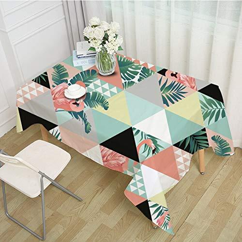 XXDD Mantel Rectangular de diseño Creativo con Estampado de flamencos, Mantel de Fiesta, cojín, Ropa, decoración del hogar, A5 140x180cm