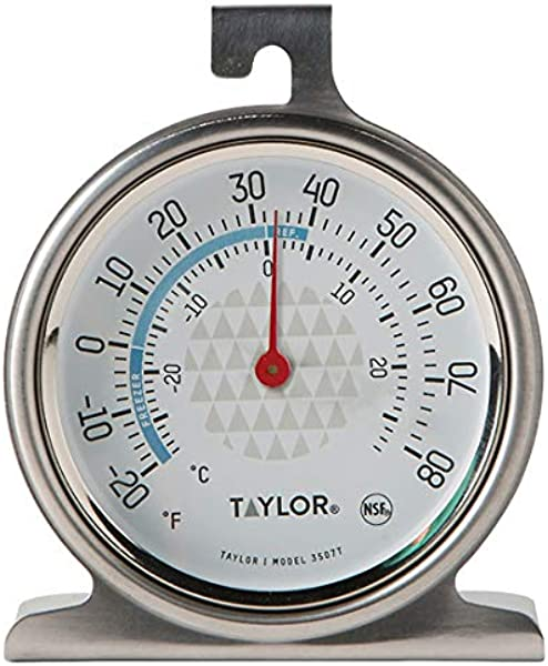 Taylor 3507 TruTemp 冰箱冰柜模拟表盘温度计带安全区