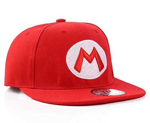 True Heads Super Mario Rot Snapback Baseball Kappe