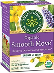 Relieves occasional constipation, generally within 6-12 hours.* Non-GMO Verified. All Ingredients Certified Organic. Kosher. Caffeine Free. Consistently high-quality herbs from ethical trading partnerships. Taste: Sweet and aromatic with spiced orang...