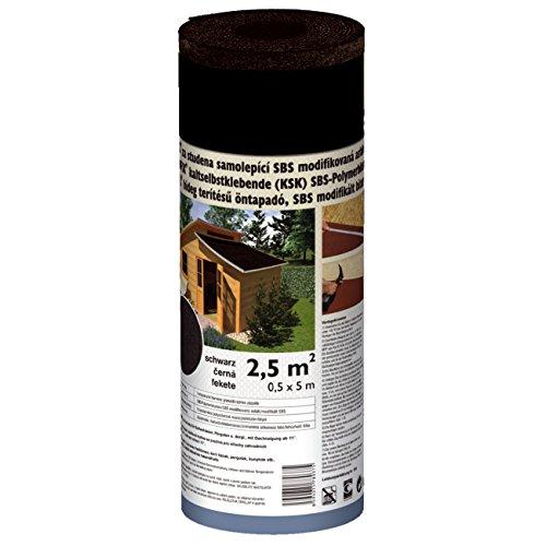 Selbstklebende Gartenhausbedachung Schwarz 2,5 m² (5x0,5m)