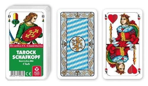 Kartenspiel Senioren Schafkopf Tarock Bayerisches Bild im Kunststoffetui