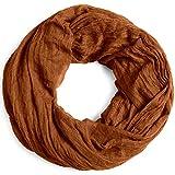 Caspar SC432 Bufanda Infinita para Mujer Bufanda Redonda Vintage, Color:marrón rojizo, Talla:Talla Única