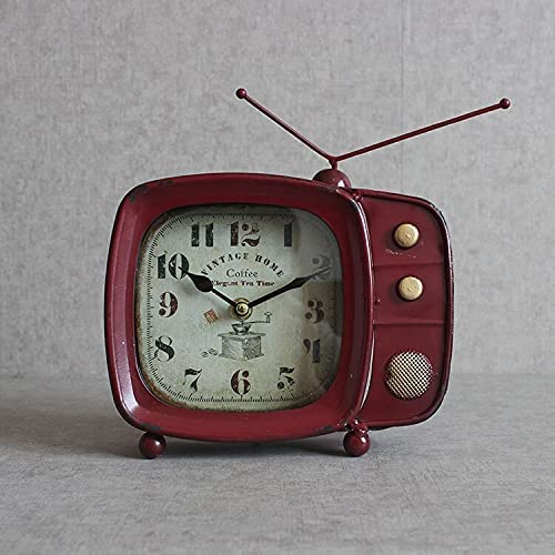YZJC Colorado Springs Mall European TV Table Clock Vintage Louisville-Jefferson County Mall Room Living Iron Ba Wrought
