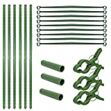 Starmood Tomatoes Cage Assembled Plant Vegetable Trellis Support Stakes for Indoor Pot Outdoor Use Garden