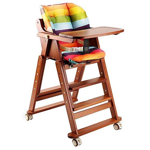 WYJW kinderstoel Children's, massief hout eettafel en stoelen, hotel baby eetstoel, opvouwbare kinderstoel