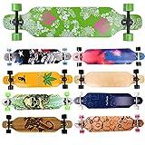 FunTomia Longboard Skateboard Drop Through Cruiser Komplettboard...