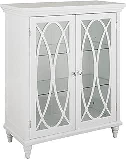Elegant Home Fashions Double Door Floor Cabinet in White