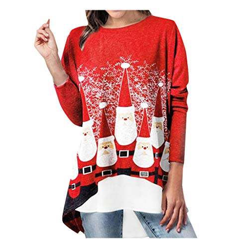Why Choose Amlaiworld Women Plus Size Sweaters Fashion Christmas Pullover Blouse Long Sleeve Christm...