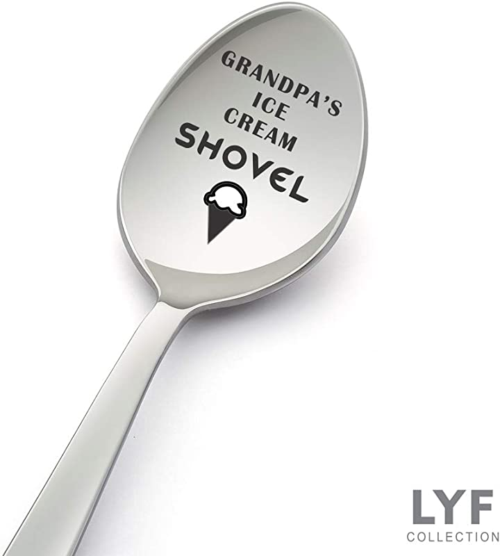 Grandpa S Ice Cream Shovel Spoon Best Grandpa Gift From Granddaughter For Father S Day Birthday Gifts For Grandpa
