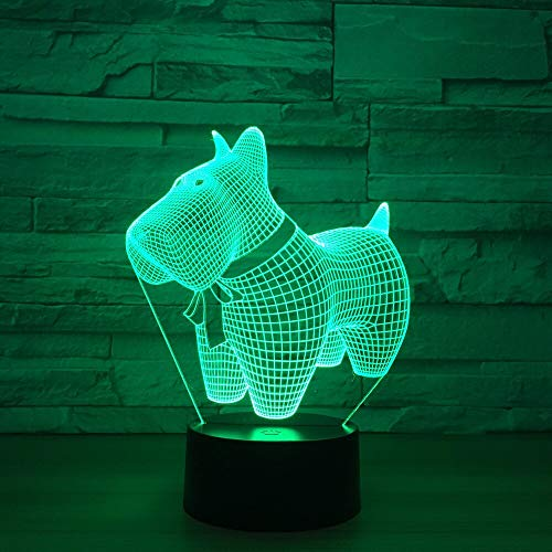 Only 1 Piece Led Creative Puppy Decorative Colorful 3D Lamp Lovely 7 Color Change 3D Lamp Christmas Decorations Gift for Baby Room Lights