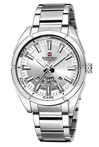 NAVIFORCE - Reloj de pulsera deportivo para hombre, resistente al agua, estilo militar, de cuarzo, informal, con fecha, reloj de pulsera
