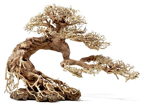 Bonsai Driftwood Aquarium Tree BSD (13 Inch Height- 20 inch Length) Natural, Handcrafted Fish Tank Decoration | Helps Balance Water pH Levels, Stabilizes Environments | Easy to Install