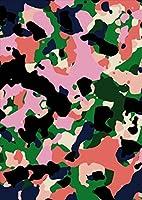 igsticker ポスター ウォールステッカー シール式ステッカー 飾り 1030×1456㎜ B0 写真 フォト 壁 インテリア おしゃれ 剥がせる wall sticker poster 011572 迷彩 模様 カモフラ