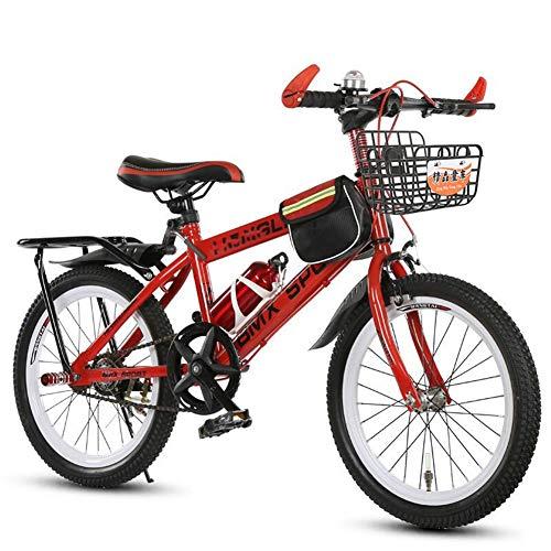 LJHSS Bicicleta Infantil para niños y niñas a Partir | Velocidad única Bici de montaña 20/22 Pulgadas con Frenos (Color : Red, Size : 22 Inches)