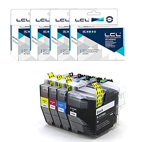 LCL Kompatibel Tintenpatrone C3219 LC3217 LC-3219XL LC3219XL LC3219XLBK LC3217BK LC3219XLC LC3219XLM LC3219XLY High Yield (KCMY) Ersatz für Brother MFC-J5330DW MFC-J5335DW