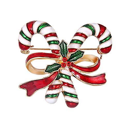 Petalum Weihnachten Brosche Christmas Strass Pin Anstecknadel Kristall Legierung Schneemann Broschen Damen Kinder Schneeflocken Rentier Pullover Hemd Zubehör Geschenk