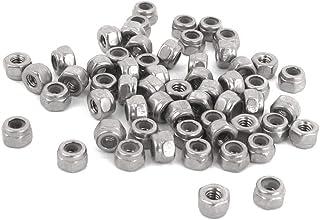 Metal Nuts 50PCS قفل الجوز M2 الزنك مطلي الذاتي قفل النايلون إدراج عرافة قفل المكسرات