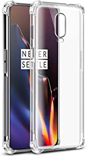 OnePlus 6T Clear Case, CORN Shock Absorption Bumper Cover, Scratch Resistant TPU Soft Protective Case - Crystal Clear