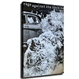 rage against the machine framed - Rage Against The Machine Poster Picture Art Print Canvas Wall Art Home Living Room Bedroom Decor Mural (08×12inch-No Framed)