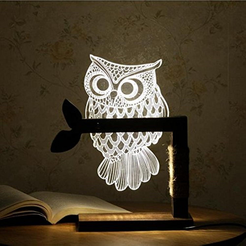 Bazaar 3D Owl Form LED Kreative Schreibtisch Licht Nacht Lampe Acryl Dimmable Kunst Tischlampe Weihnachtsgeschenke