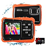 Kids Waterproof Camera, Underwater Digital Camera 12MP HD Camcorder for Kids Boys Girls Age 4-10 with 2.0 Inch LCD Display 8X Digital Zoom and 16G Memory Card (Red)