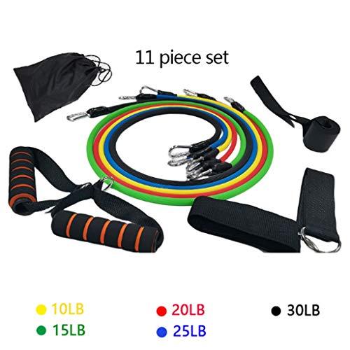 HUO FEI NIAO Sport-Widerstandsband und Fitness-Set 11-teiliges Set, Fitness-Spannungs-Set Spannungsband-Training Yoga-Widerstandsband-Ausrüstung