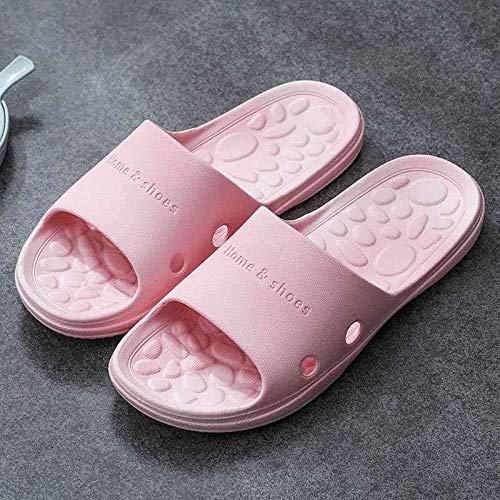 LIANGANAN Escurrir rápida Baño Mula,Inicio par de Zapatillas,Sandalias y Masaje baño Antideslizante Zapatillas-Pink_45-46,desagüe del baño rápida Mula zhuang94